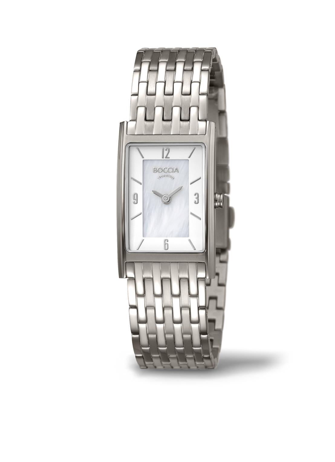 Boccia Titanium 3212.07 horloge Titanium Zilver en goudkleurig 21 mm