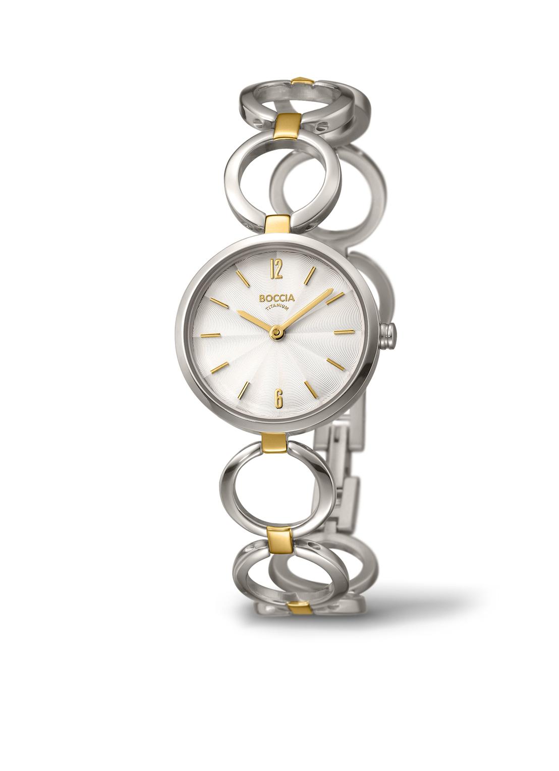 Boccia Titanium 3271.02 horloge Titanium Zilverkleurig 26 mm