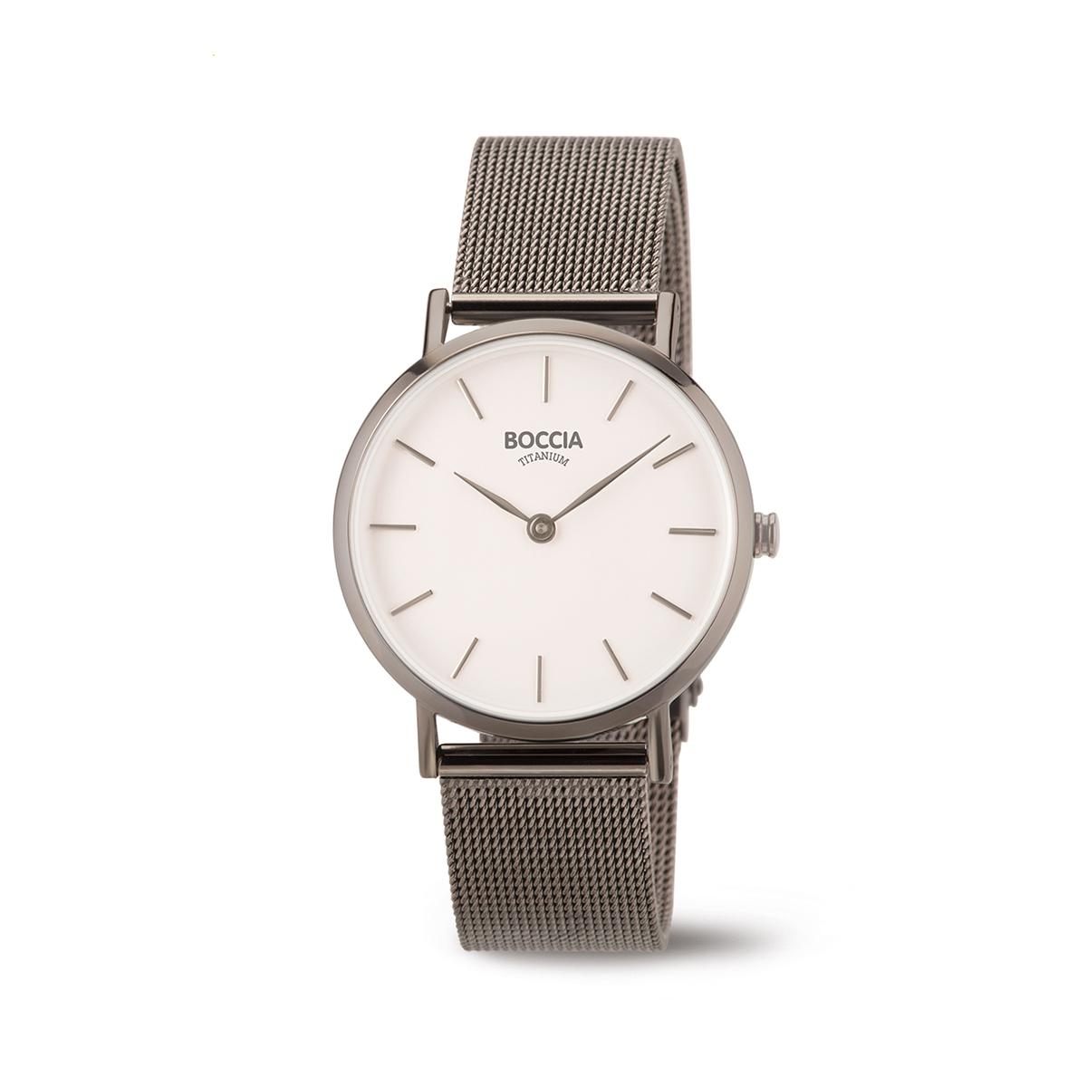 Boccia Titanium 3281.04 horloge Staal Grijs 32 mm