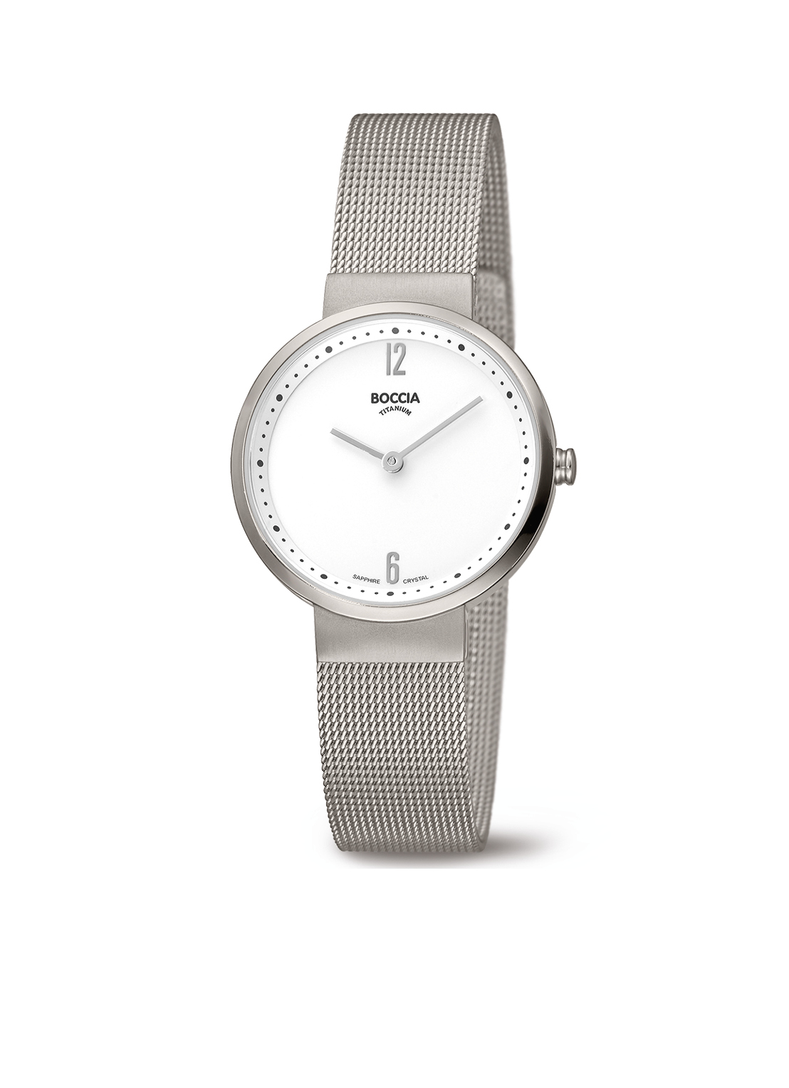 Boccia Titanium 3283.01 horloge Staal Zilverkleurig 30 mm
