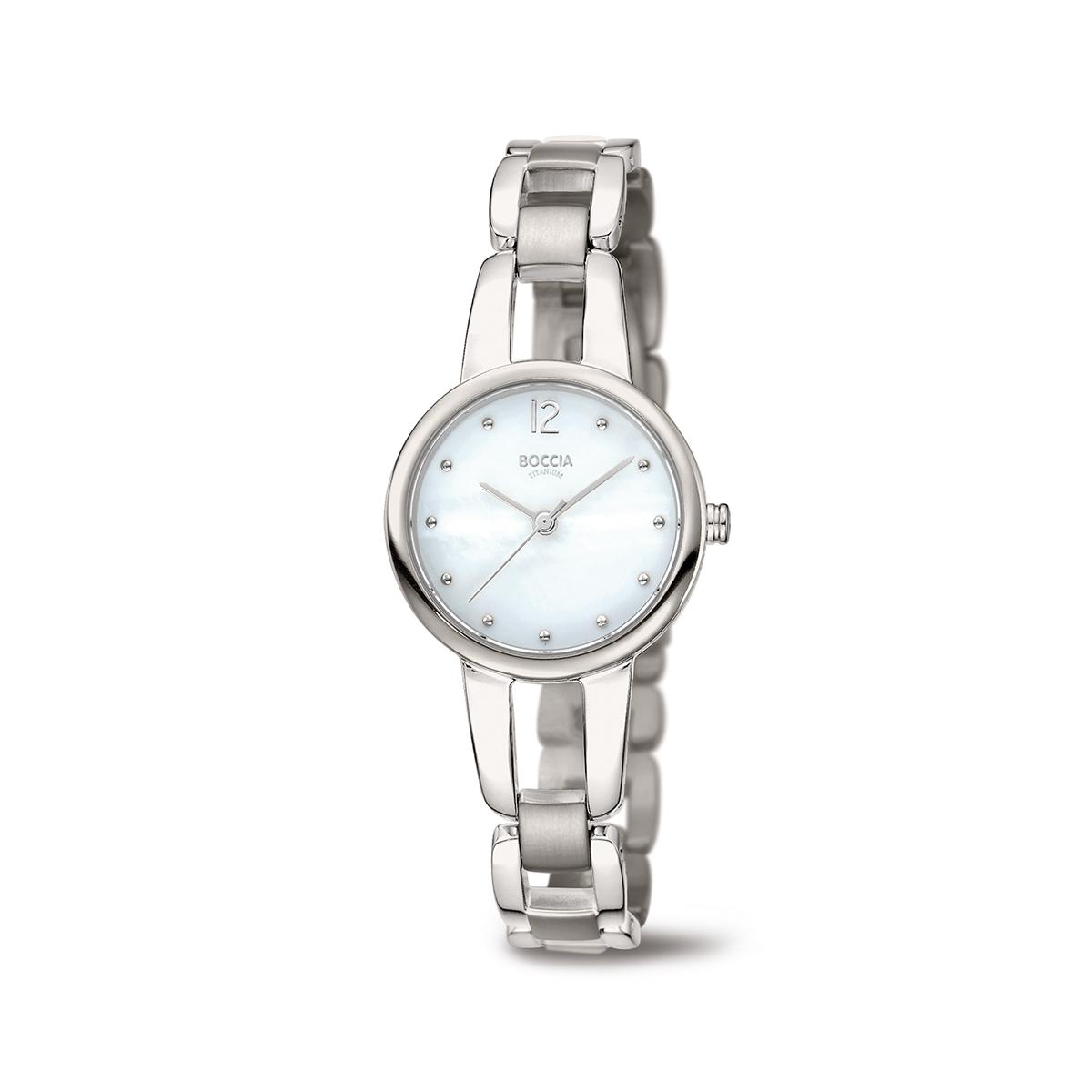 Boccia Titanium 3290.01 horloge Titanium Zilverkleurig 28 mm