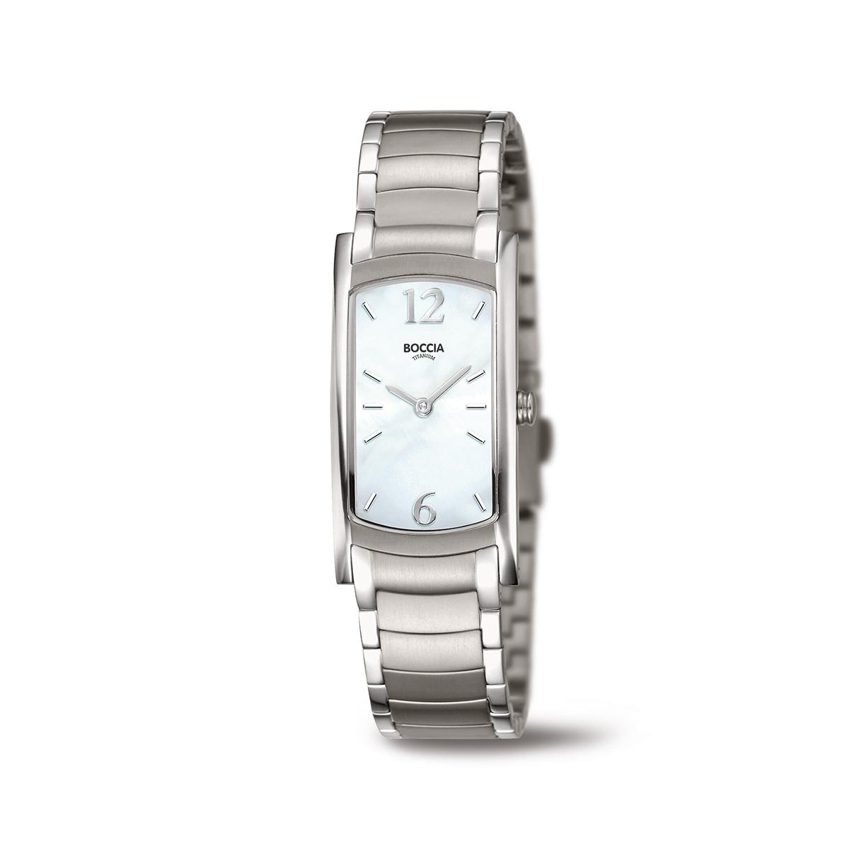 Boccia Titanium 3293.01 horloge Titanium Zilverkleurig 32 mm
