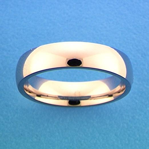 TFT Ring A301 - 5 Mm - Zonder Steen Zilver Gerhodineerd