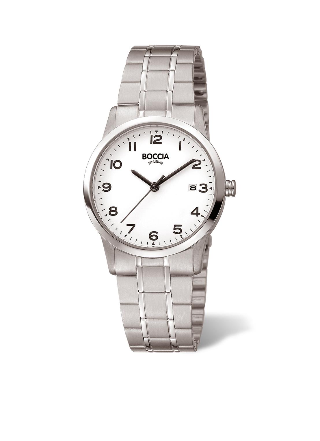 Boccia Titanium 3302.01 horloge Titanium Zilverkleurig 29 mm