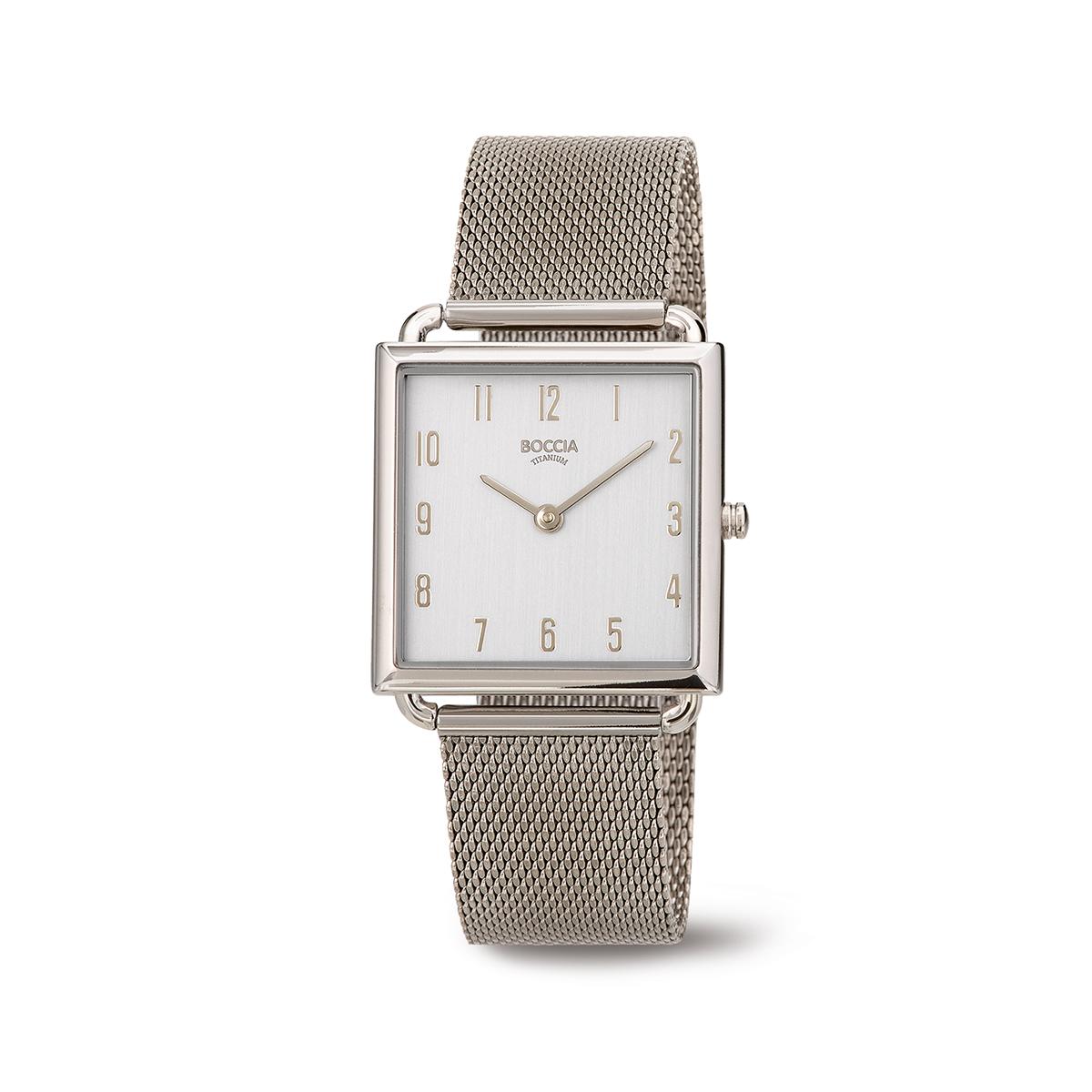 Boccia Ttanium 3305.04 horloge Staal Grijs 29 mm
