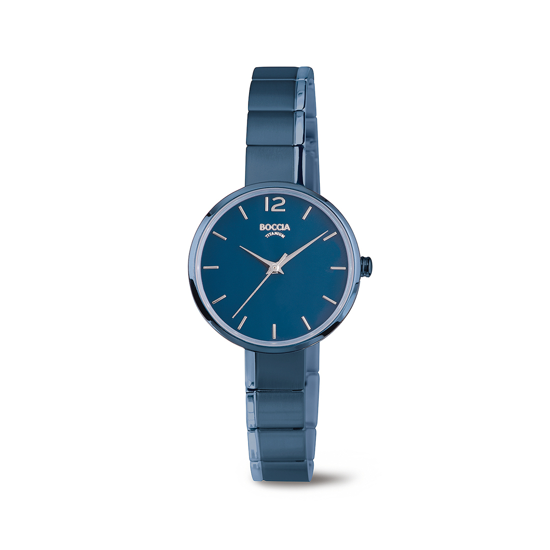 Boccia Titanium 3308.04 horloge Titanium Blauw 29 mm