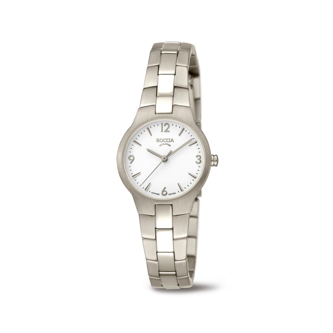 Boccia Titanium 3312.01 horloge Titanium Zilverkleurig 28 mm
