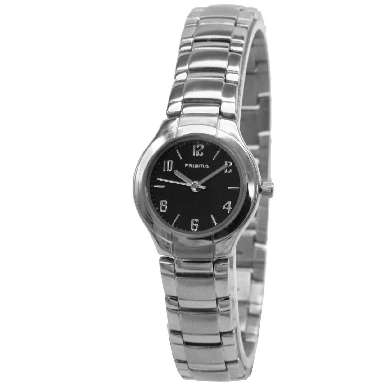 Prisma P.1068 Horloge Classic staal zilverkleurig-zwart 32 mm