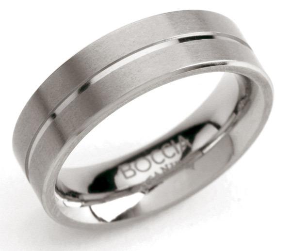 Boccia 0101 07 Ring Titanium zilverkleurig 6 mm Maat 58