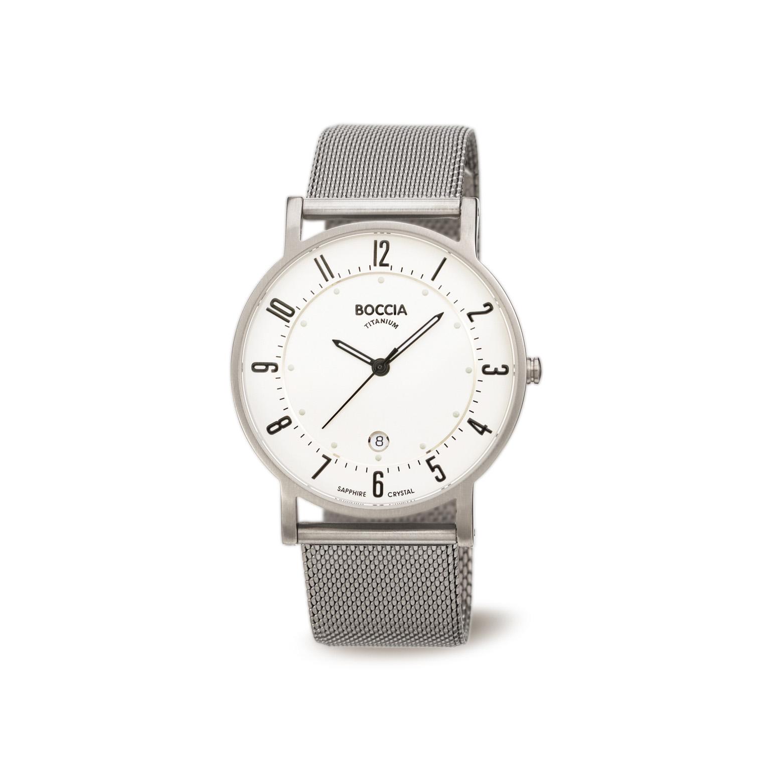 Boccia Titanium 3533.04 horloge Staal Zilverkleurig 37 mm