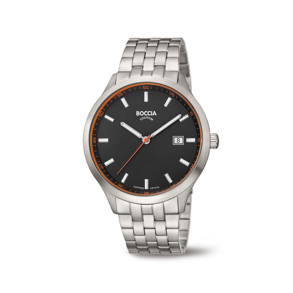 Boccia Titanium 3614.03 horloge Titanium Zilverkleurig 41 mm
