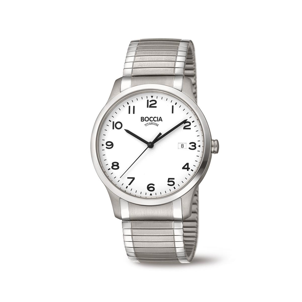 Boccia Titanium 3616.01 horloge Titanium Zilverkleurig 40 mm