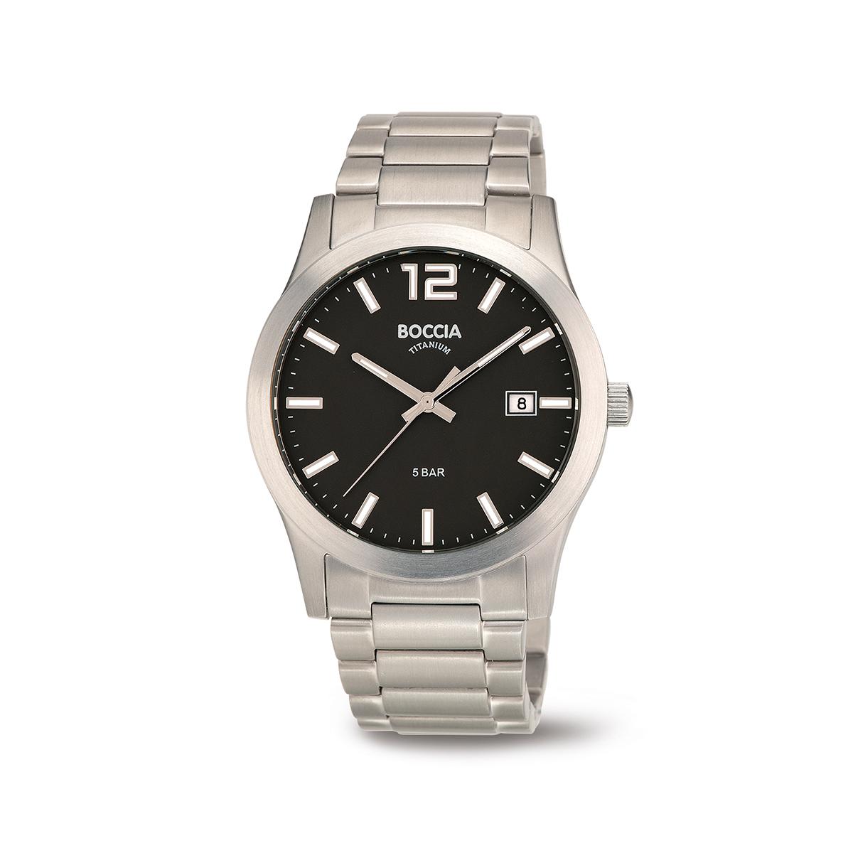 Boccia Ttanium 3619.02 horloge Titanium Zilverkleurig 40 mm