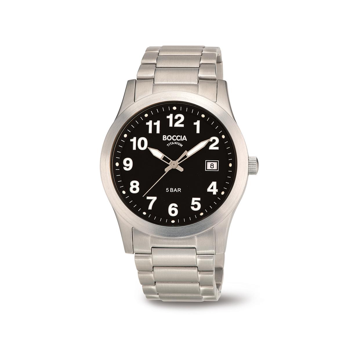 Boccia Ttanium 3619.03 horloge Titanium Zilverkleurig 40 mm