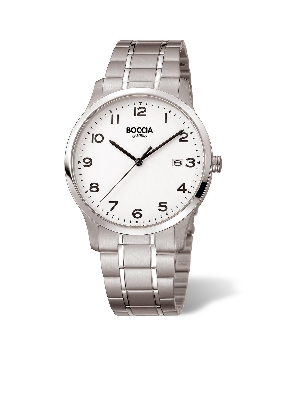 Boccia Titanium 3620.01 horloge Titanium Zilverkleurig 39 mm