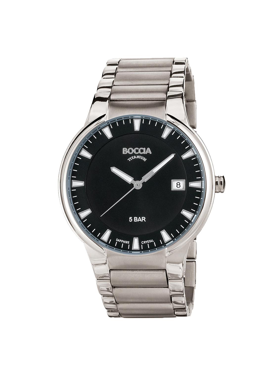 Boccia Titanium 3629.01 horloge Titanium Zilverkleurig 39 mm