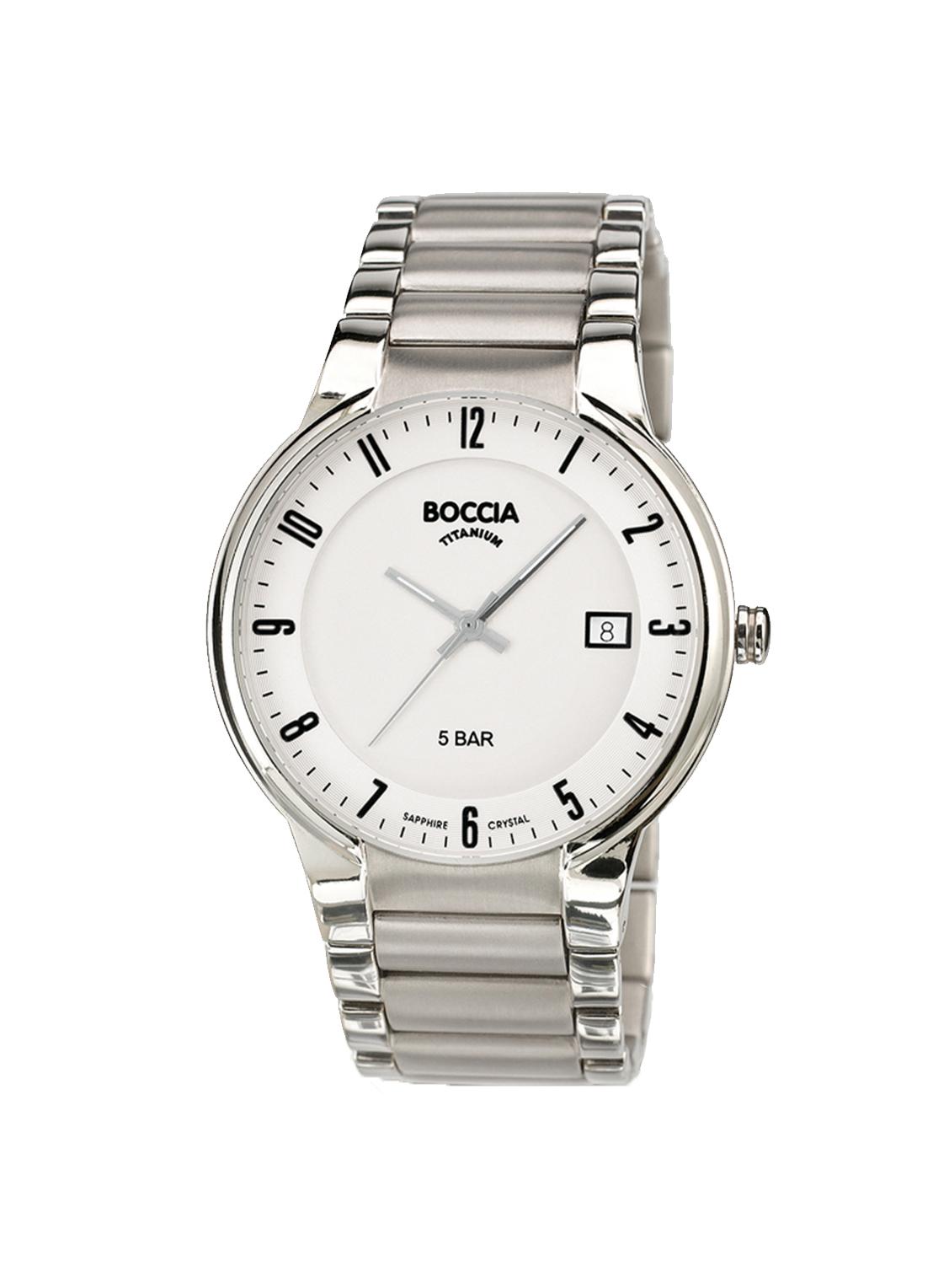 Boccia Titanium 3629.02 horloge Titanium Zilverkleurig 39 mm