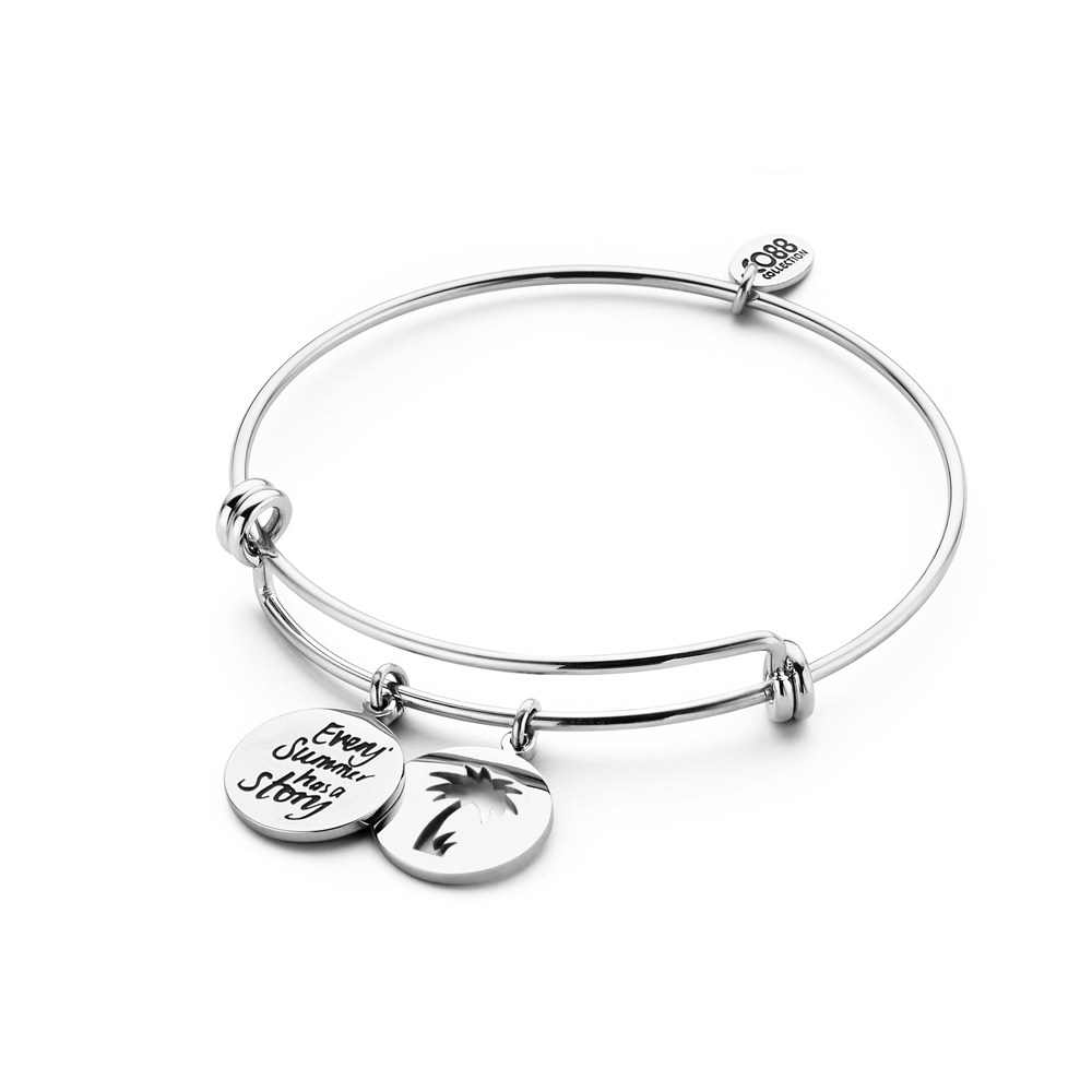 CO88 Collection Inspirational 8CB 90266 Stalen Armband met Hangers Every Summer Has a Story en Open