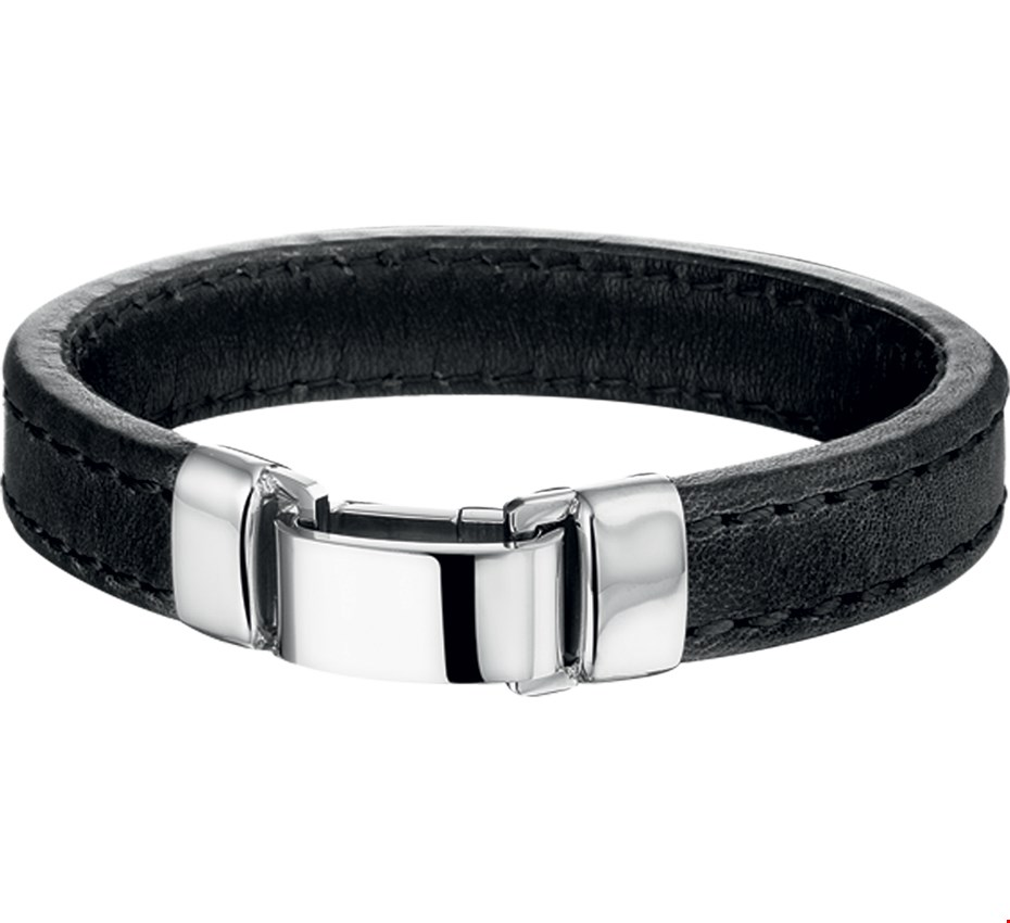 TFT Armband Staal Leer 14 mm 22,5 cm