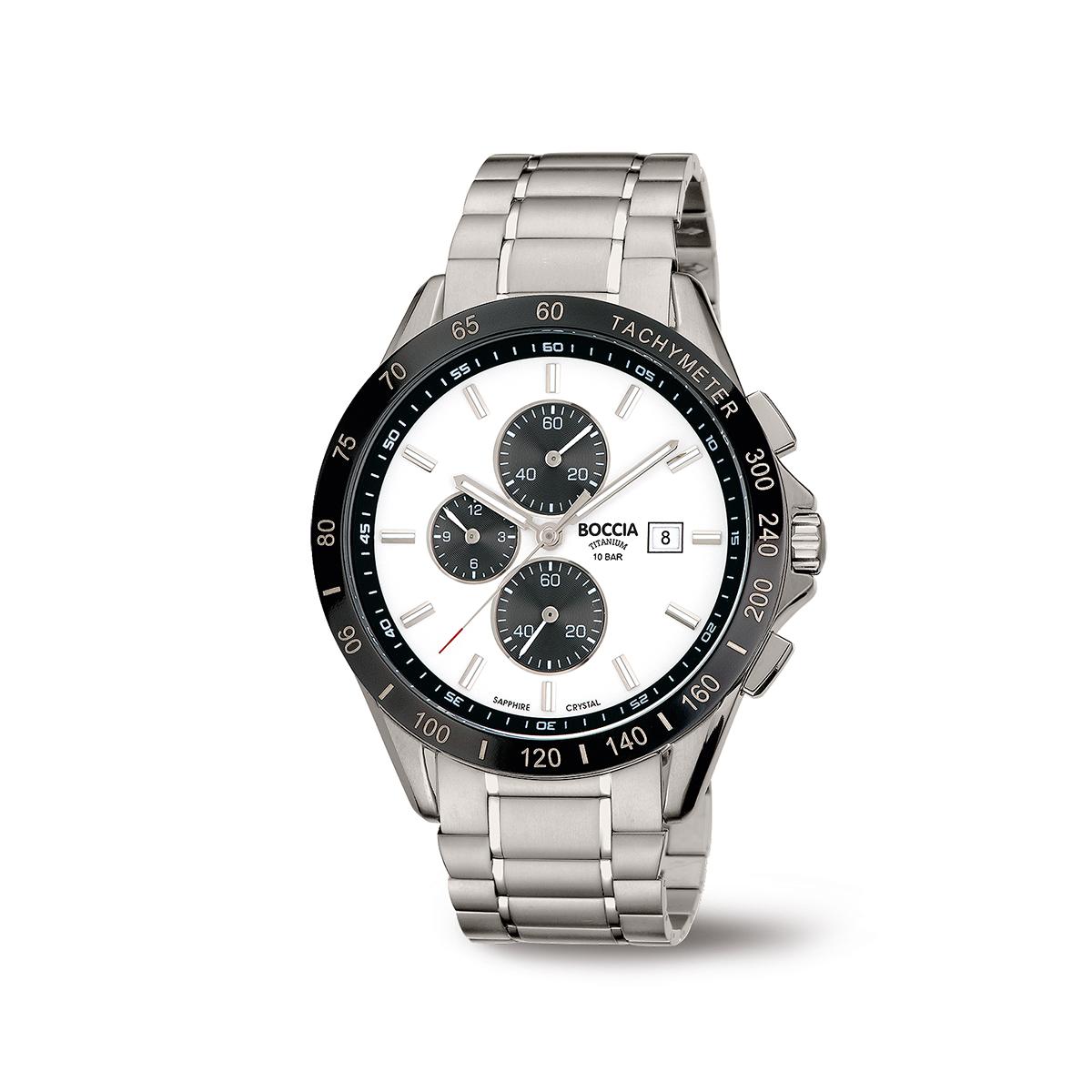 Boccia Ttanium 3751.03 horloge Titanium Zilverkleurig 42 mm