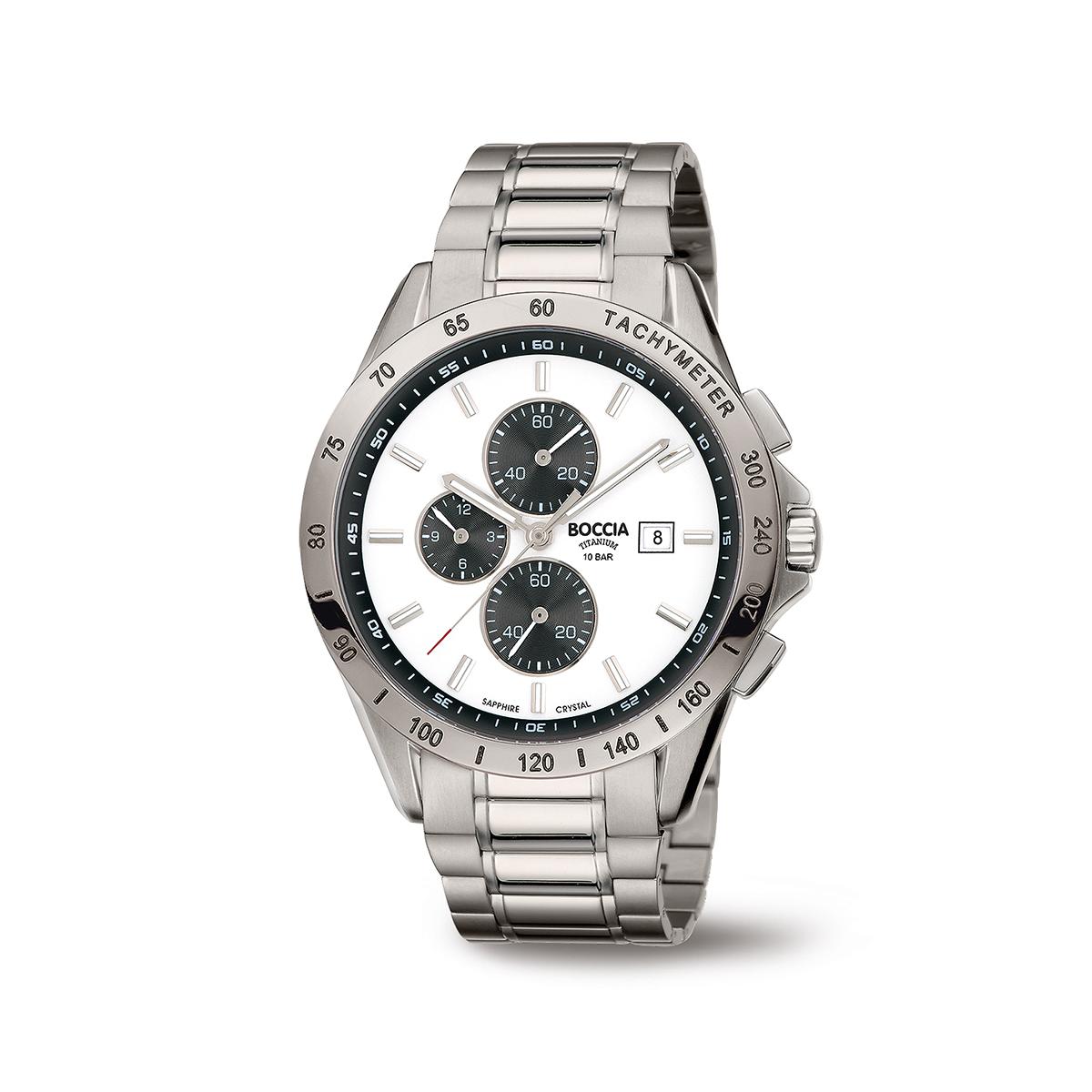 Boccia Ttanium 3751.04 horloge Titanium Zilverkleurig 42 mm