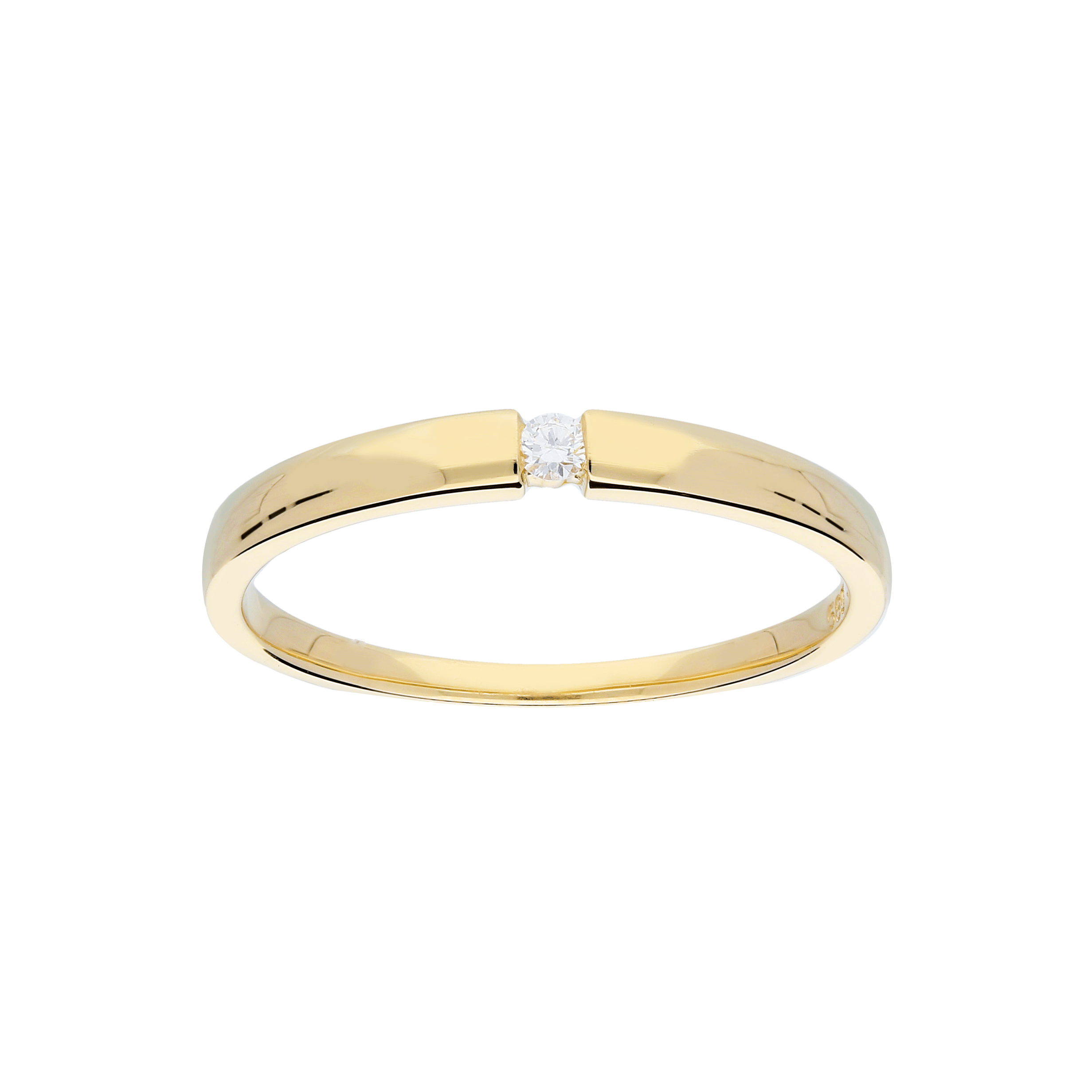 Glow Gouden Ring Glanzend Diamant 1 0.03ct G si 214.2007.56