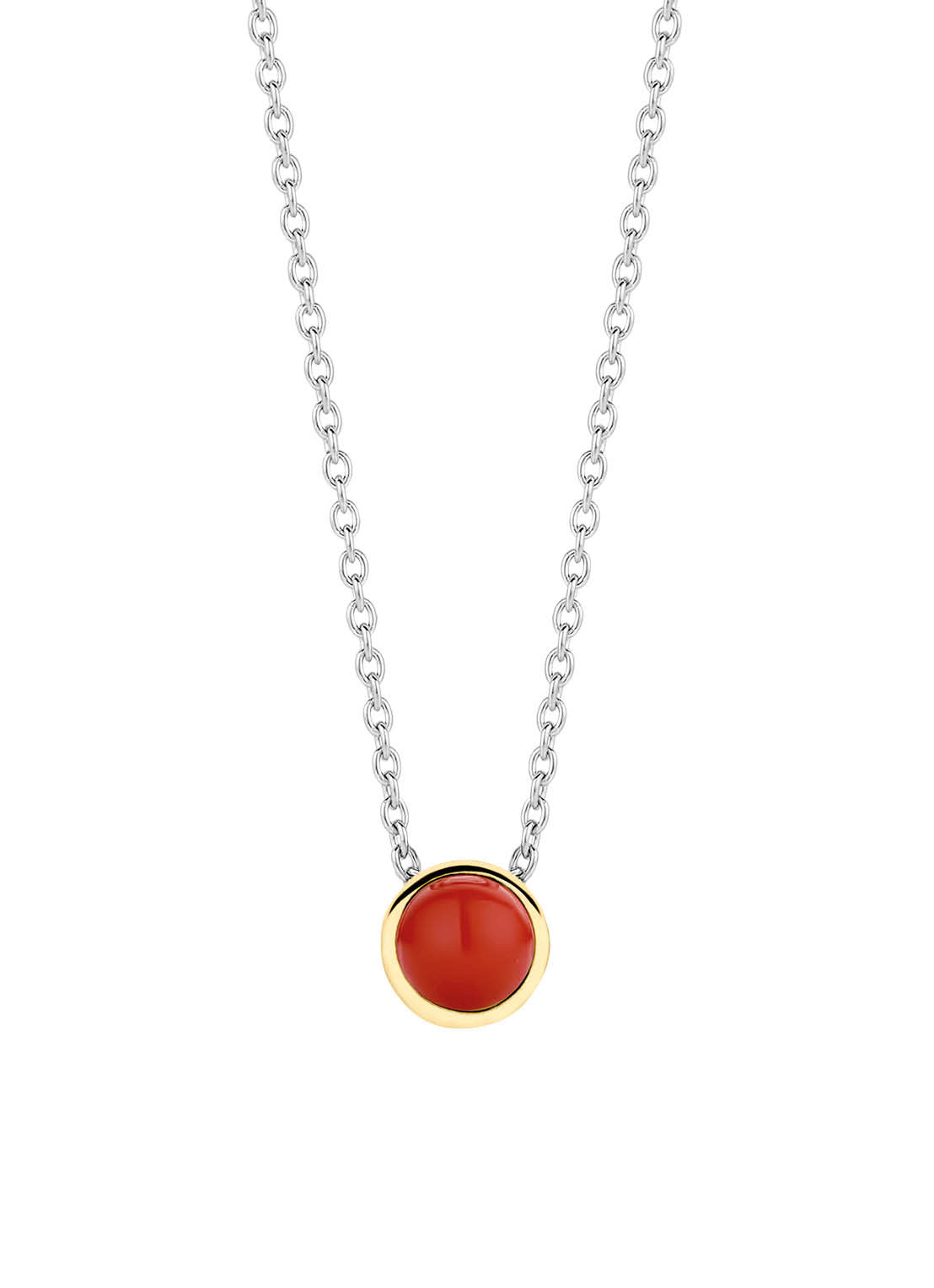 TI SENTO-Milano 3845CR Ketting Gilded zilver-goud-rood 42-47 cm