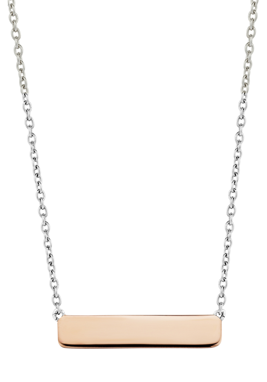 TI SENTO Milano 3893SR Ketting zilver met rosekleurige bar 42 47 cm