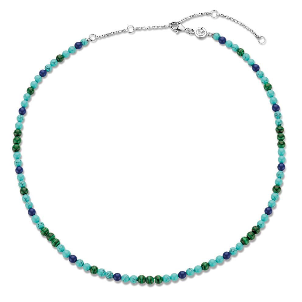 TI SENTO-Milano 3916TM Ketting Beads zilver-kleursteen blauwtinten 4 mm 38-48 cm