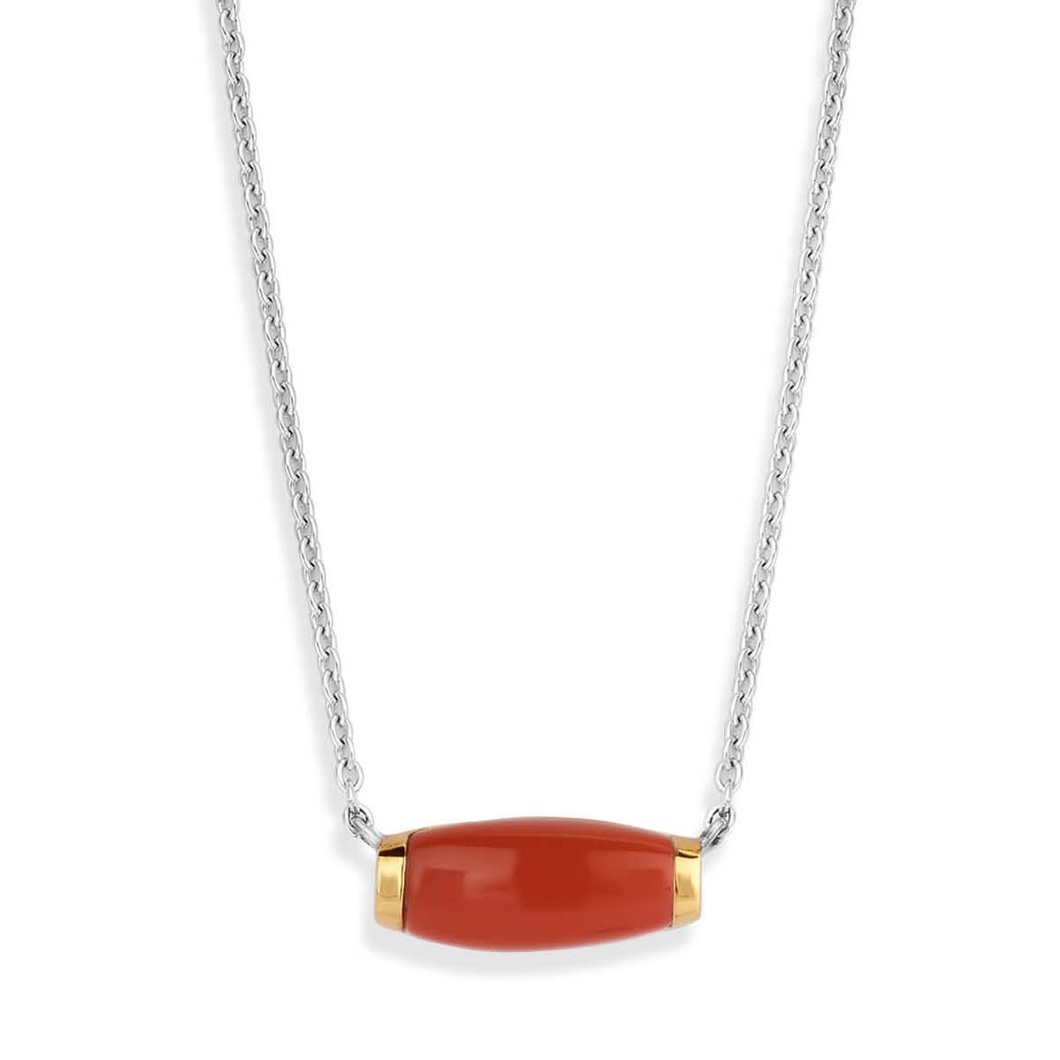 TI SENTO-Milano Ketting 3942CR zilver goudkleurig-rood 38-48 cm