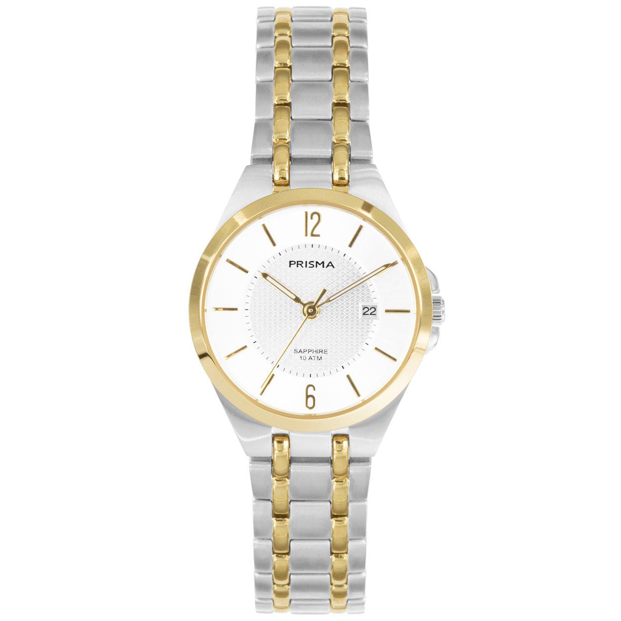 Prisma horloge P.1261 Titanium Goudkleurig