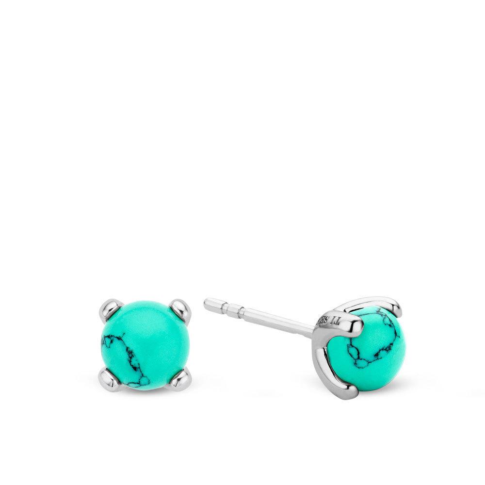 Ti Sento 7768TQ zilveren oorbellen met zirkonia