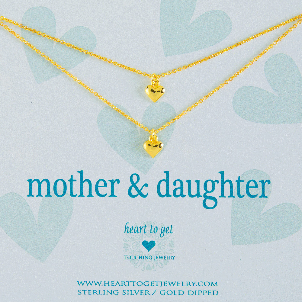 Heart to get 2N16HEA11G-3 Mother & daughter ketting goud