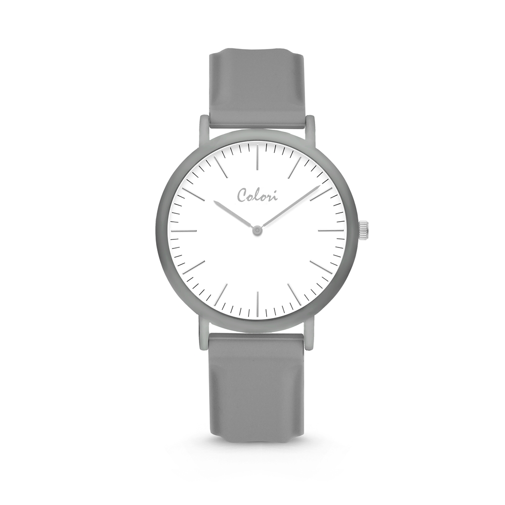 Colori Essentials 5 COL580 Horloge - Siliconen Band - Ø 40 mm - Grijs