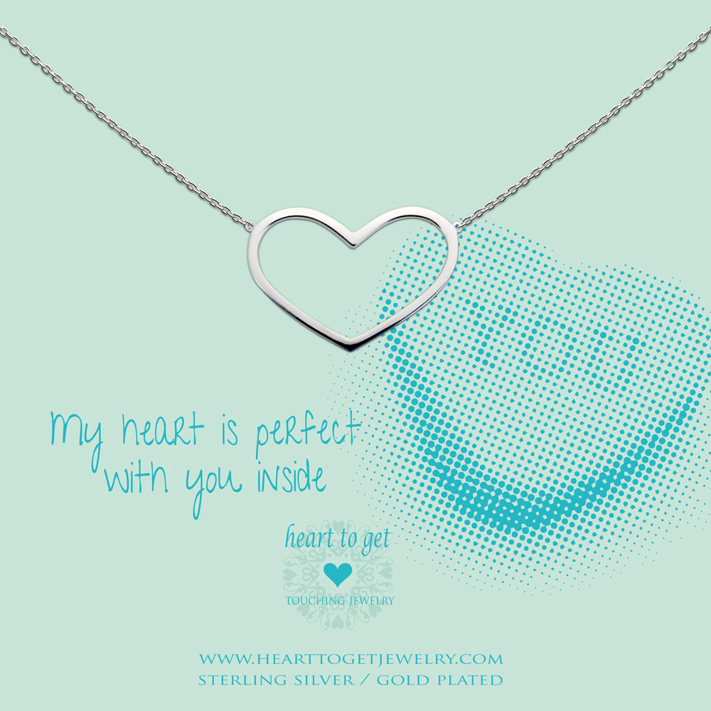Heart to get N236BHS14S my heart is perfect with you inside ketting zilver