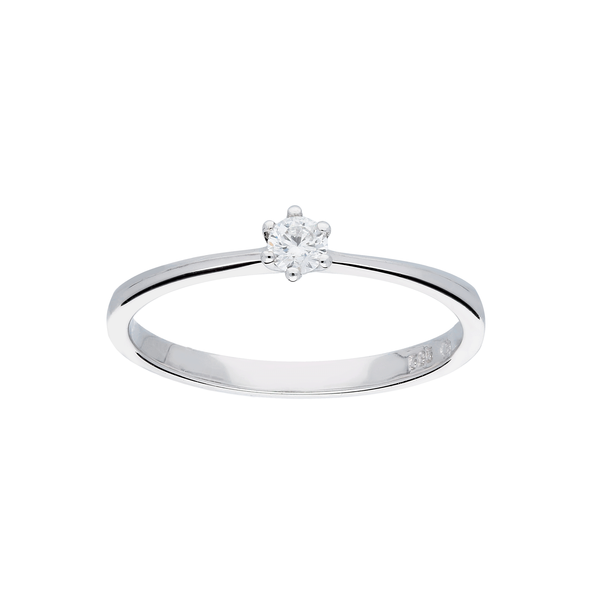 Glow Witgouden Ring Glanzend Diamant 1 0.1ct G si 214.3006.56