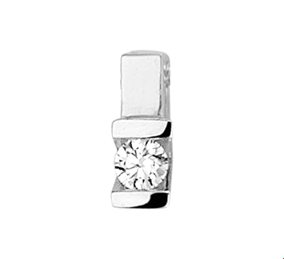 TFT Hanger Witgoud Diamant 0.075 Ct.
