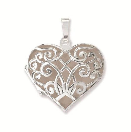 Zilveren Medaillon Hart bewerkt 145.0114.00