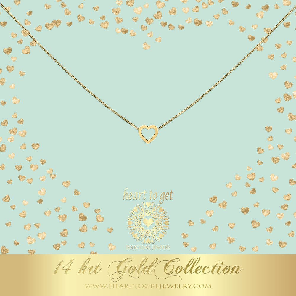 Heart to get NG04OPH18 Ketting Open Heart goud 40-44 cm
