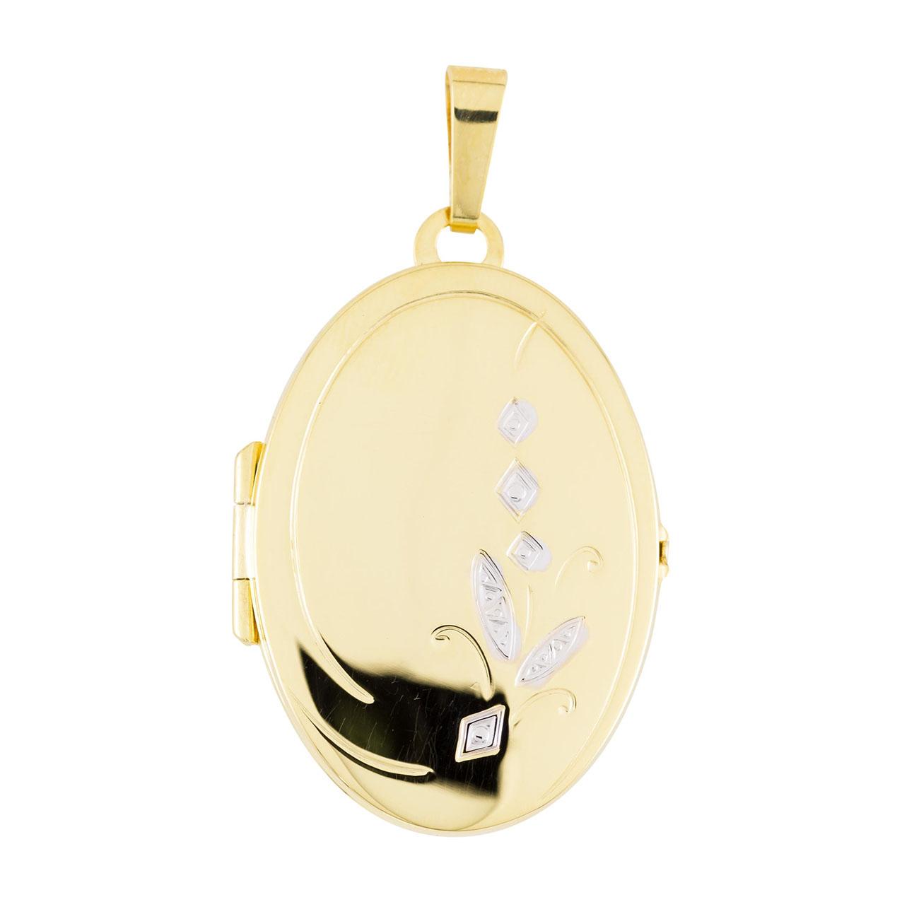Glow Gouden Medaillon Ovaal - 21 x 38 mm 245.0088.00