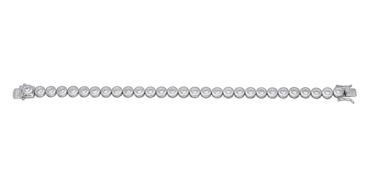 Classics Zilveren Tennisarmband met ronde zirconia 6 mm 19 cm 104.1810.19