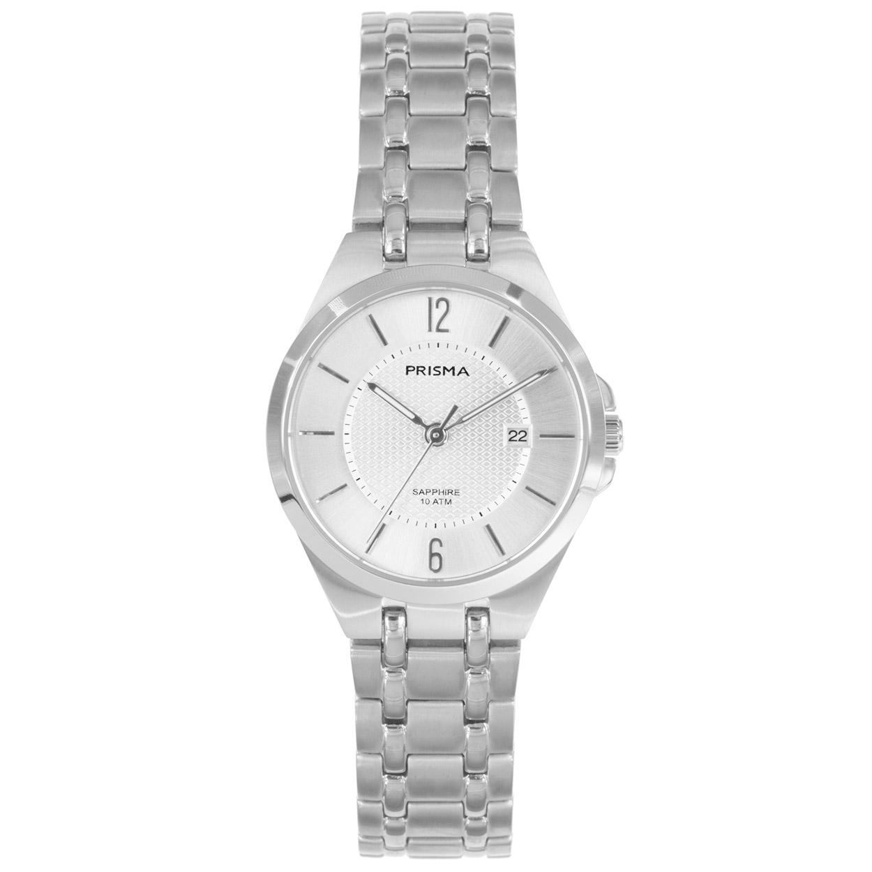 Prisma P.1260 horloge Titanium zilverkleurig 29 mm