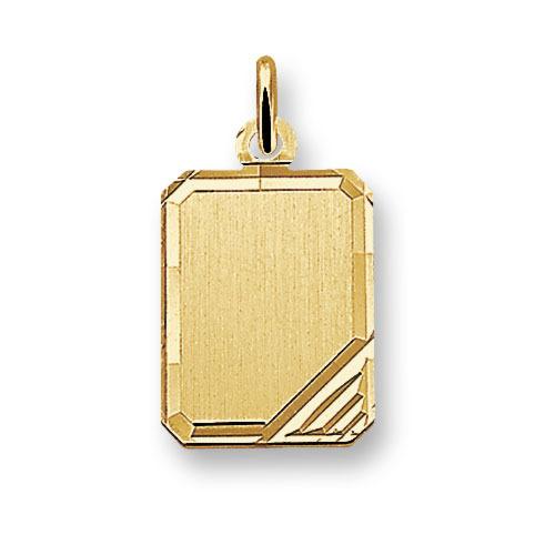 Huiscollectie 4006034 Gouden graveerplaat rechthoek