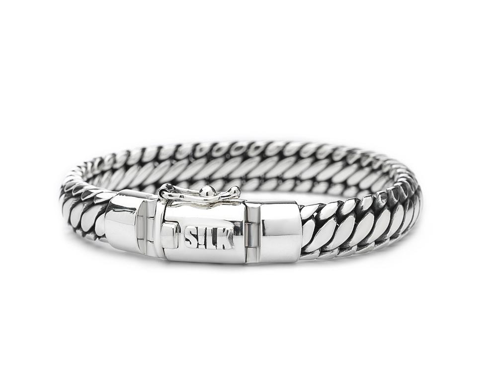 Silk Jewellery Armband zilver 'Shiva' 21 cm 371-21