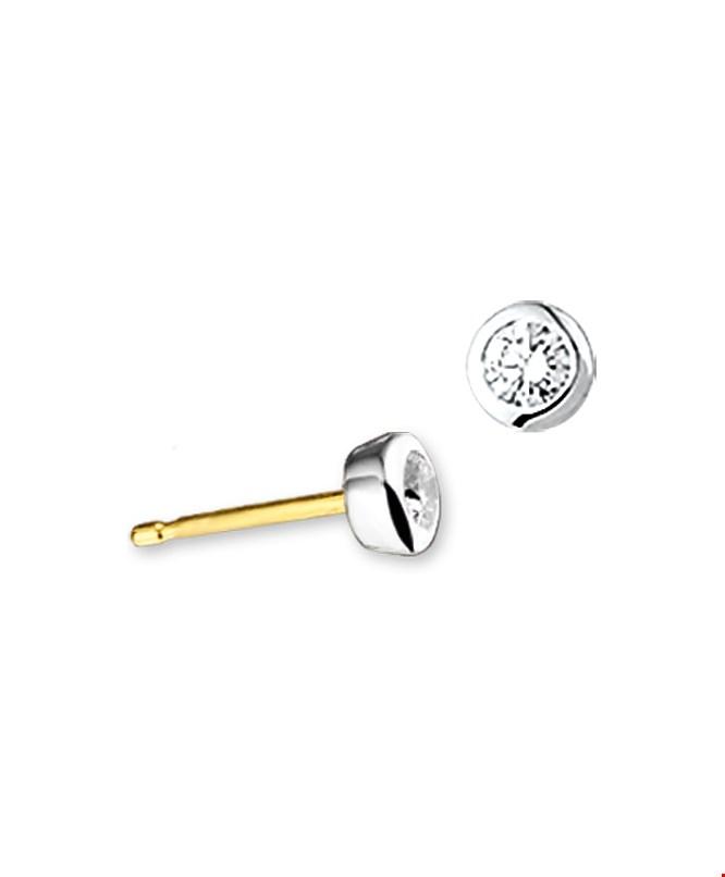 TFT Oorknoppen Diamant 0.25 Ct. Bicolor Goud Glanzend