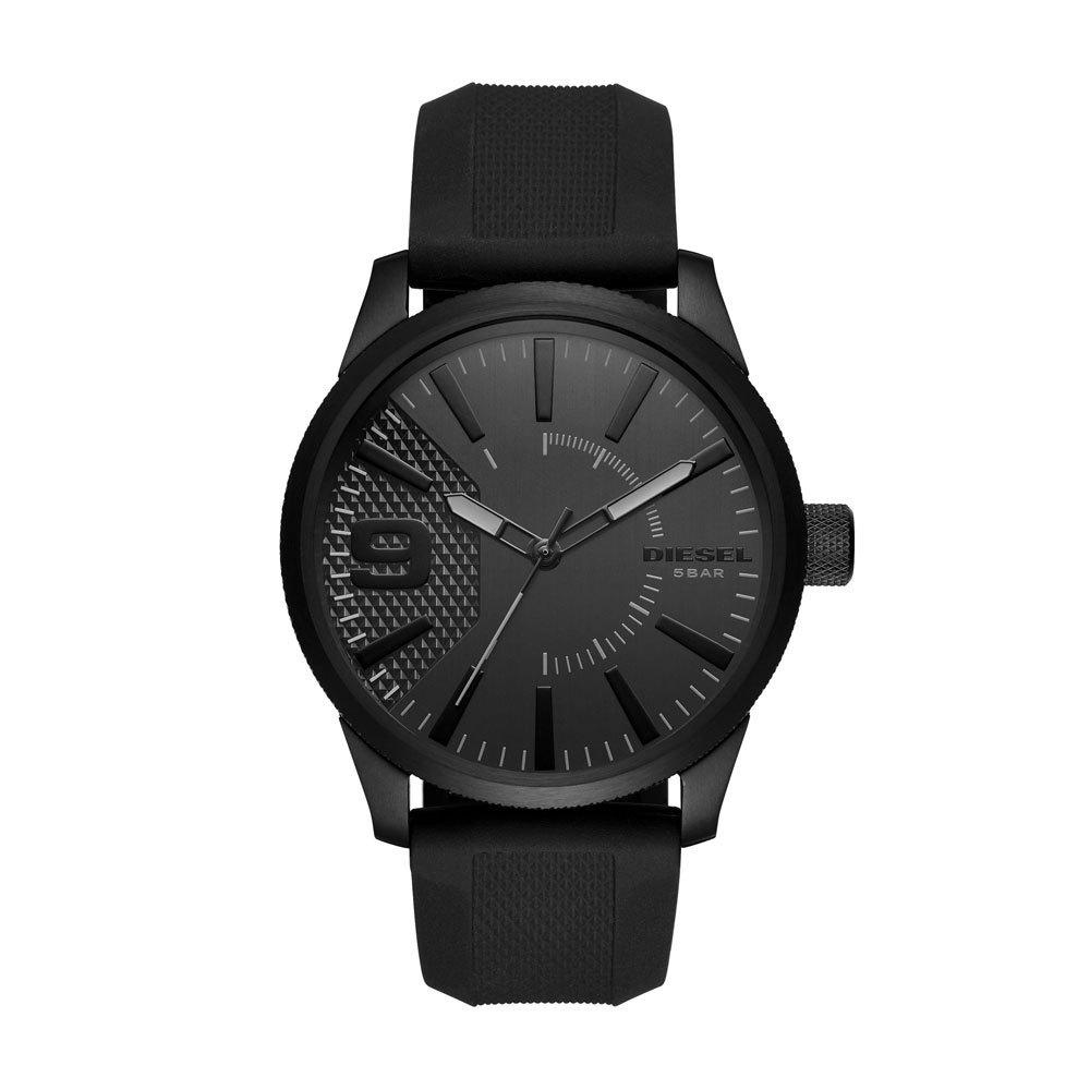 Diesel DZ1807 Horloge Rasp staal/leder zilverkleurig-zwart