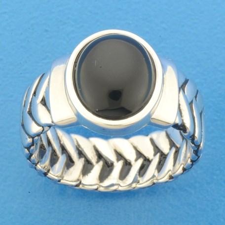 TFT Ring Oxi En Onyx Zilver Geoxideerd