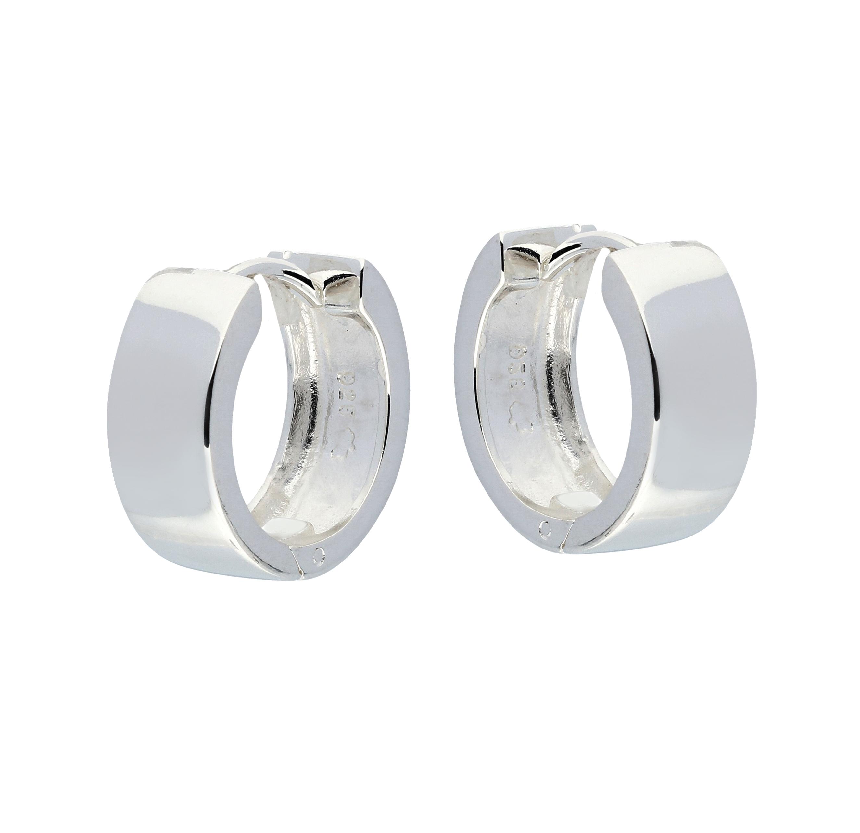 Zilveren klapcreolen vierkante buis 6 mm 107.0075.14