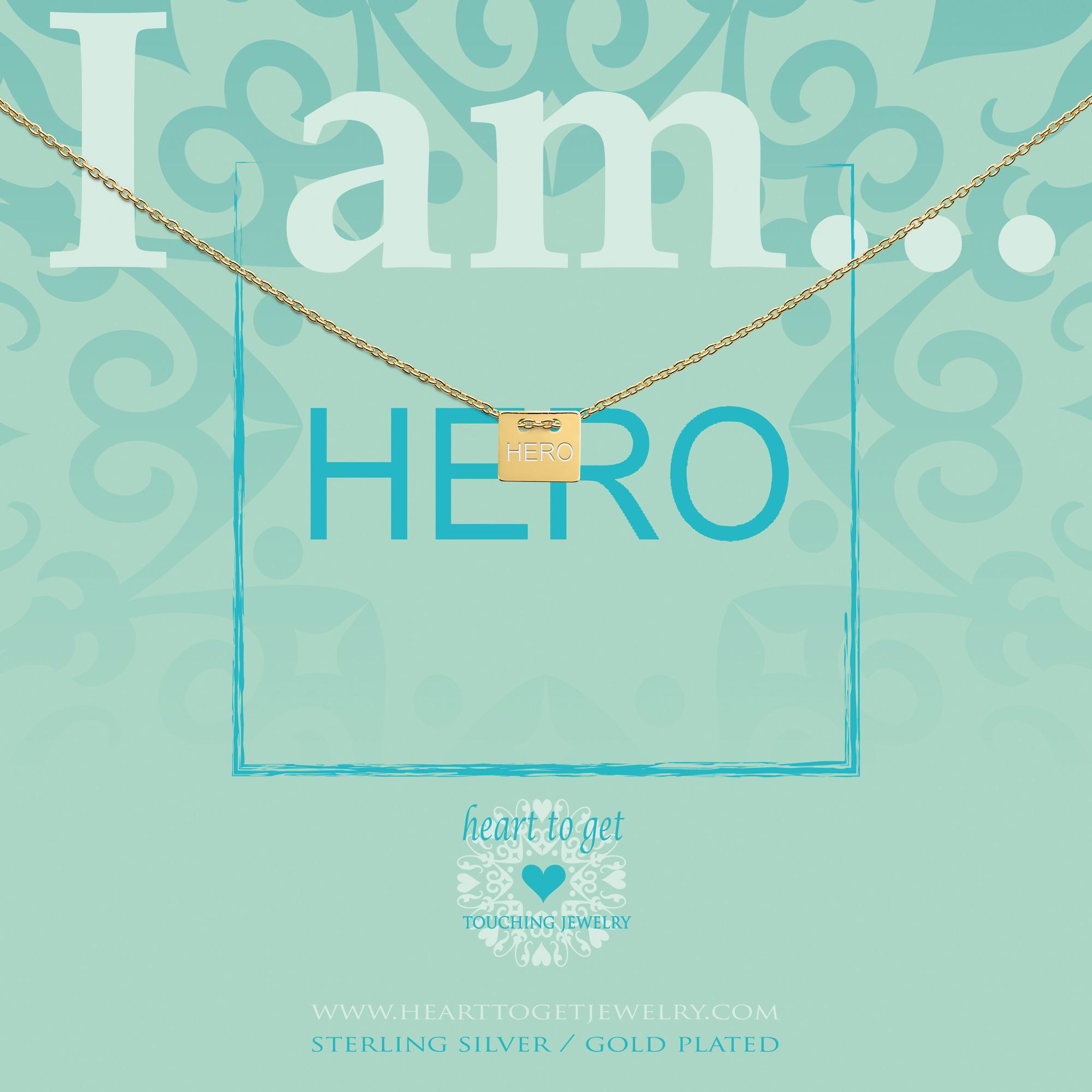 Heart to Get IAM415N-HERO-G Ketting Hero zilver goudkleurig