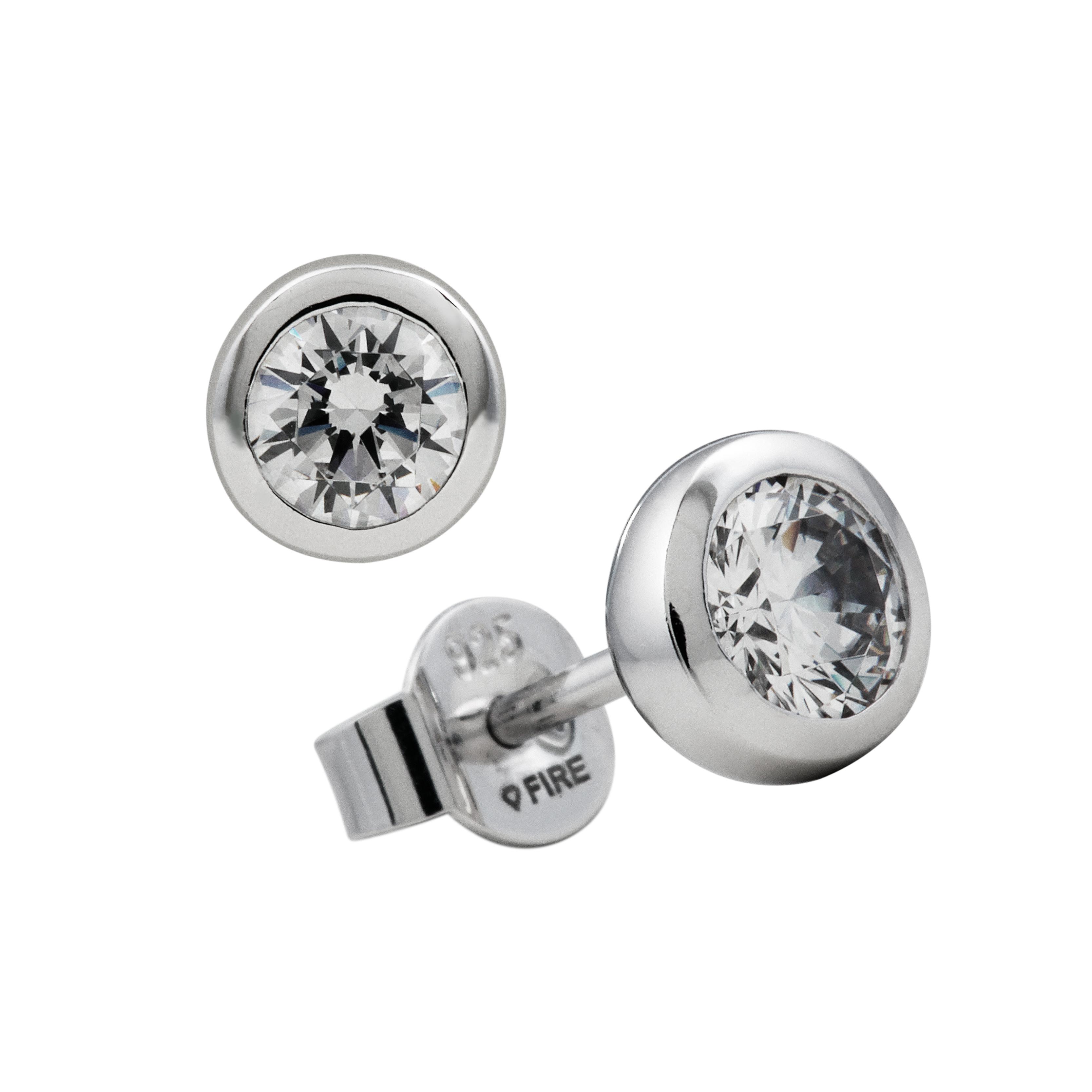 Afbeelding van Diamonfire 806.0841.00 Oorknoppen zilver solitair 0.50 ct 5 mm